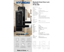 HYUNDAI HY-SL1302B SMART LOCK W/BLE - 102-82-HSL08B-1