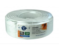 EIGHT RG6 - Coaxial Cable(CS640BV-100YW)