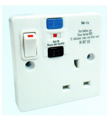 FYM - BS Socket Outlet 13A + SW +RCD ABC RCD SWITCHED SOCKET OUTLET- A2613S/RCD