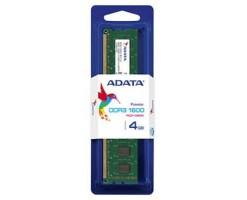 ADATA Premier Series - DDR3 - 4 GB - DIMM 240-pin - unbuffered - AD3U1600W4G11-S
