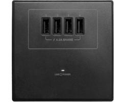 M2K 4.2A USB Wall socket (4 USB)  - AP004MF-B