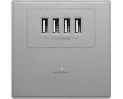 M2K 4.2A USB Wall socket (4 USB)  - AP004MF-G