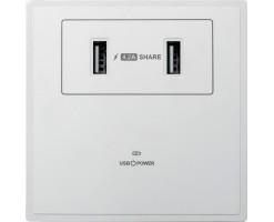M2K 4.2A USB Wall socket (2 USB)  - AP102MF-W