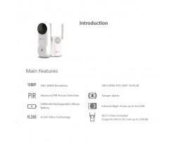 EZVIZ DB2C Smart wireless WiFi video intercom doorbell set-CS-DB2C-A0-1E3WPB
