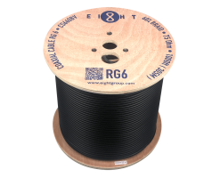 EIGHT RG6-Coaxial Cable (Black) - CS660BV_305m (wh/bk) (RG6)