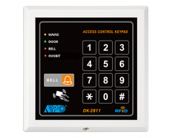 APO/AEI DK-2811 MK-II is a self-contained digital access control keypad that combines proximity EM card reader in one unit. - DK-2811