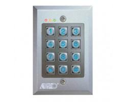 APO/AEI 12-24VDC Embedded Full Function Single Relay Output Die-Cast Alloy Reinforced Keyboard - DK-2831C