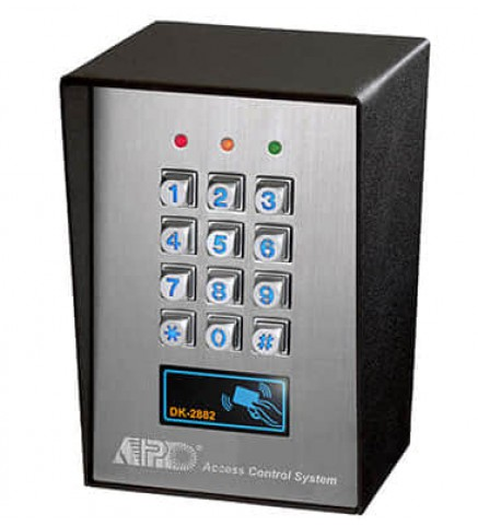 APO/AEI EM card + password, 12-24VDC full function 3 relay output Die-Cast password keyboard  (With WIEGAND code output) - DK-2882A/B