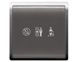 "Schneider 250V Illuminated ""Privacy"", ""Please Wait"" & ""Please Clean Up"" Symbols-Lavender Silver- E8231DMW_LS"