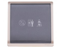 "Schneider 250V Illuminated ""Privacy"", ""Please Wait"" & ""Please Clean Up"" Symbols-Wine Gold- E8231DMW_WG_C5"