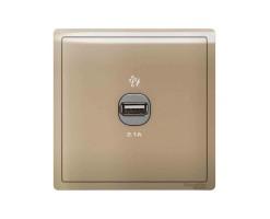Schneider 1 Gang 2.1A USB Charger Socket-Wine Gold- E8231USB_WG