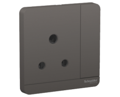 Schneider  15A 1 Gang 3 Round Pin Switched Socket with LED - E8315_15N_DG_C5