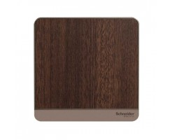 Schneider 1 Gang Blank Plate -Dark Wood- E8330X_WD_C5