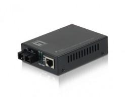 Level One RJ45 to SC Fast Ethernet Media Converter, Single-Mode Fiber, 20km - FVT-2201