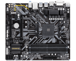 GIGABYTE AMD B450 Ultra Durable Motherboard with Realtek® GbE LAN with cFosSpeed - GA-B450M DS3H