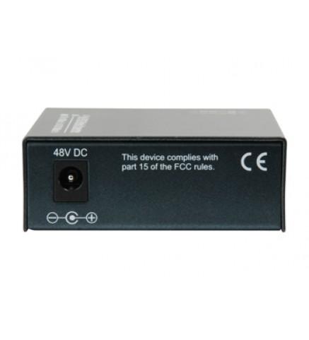 Level One GVT-2012 RJ45 to SFP Gigabit Media Converter, PoE PSE - GVT-2012
