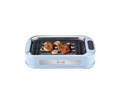HIRAKI Multifunctional smokeless grill/electric grill/barbecue machine sky blue - HG-02
