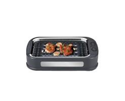 HIRAKI Multifunctional smokeless grill/electric grill/barbecue machine Charcoal gray - HG-02