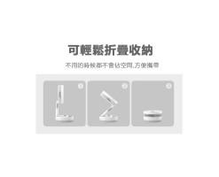 HYUNDAI Wireless Folding Moving Head Fan-With Remote Control Black - HY-F10R USB