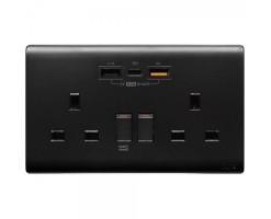 M2K Double PDQC USB Wall socket  - PD202APC5-B