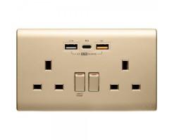 M2K Double PDQC USB Wall socket  - PD202APC5-CG
