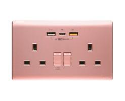 M2K Double PDQC USB Wall socket  - PD202APC5-CP
