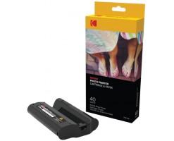"KODAK40 sheets of 4X6 waterproof photo paper with Dock dedicated printer cartridge - PHC-40 for 4""x6"""