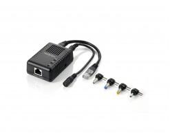 Level One Gigabit PoE Splitter, 802.3af PoE, 5-12V DC Output - POS-1001