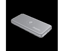 Energizer 10000 mAh Ultimate QI Wireless Power Bank, Dual Ouputs,18W Smart USB-A Fast charging Quick Recharging, LED Indicator, PowerSafe Management, 18W 10000mAh Grey - QE10007PQ_GY 18W PD