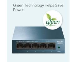 TP-Link 5-Port 10/100/1000Mbps Desktop Network Switch - TL-LS105G