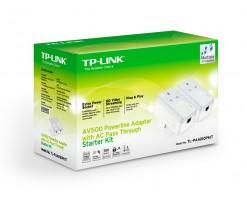 TP-Link Passthrough Powerline 600 Starter Kit, 1 Port - TL-PA4010P-KIT