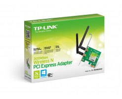TP-Link 300Mbps Wireless N PCI Express WiFi Adapter with low profile bracket - TL-WN881ND
