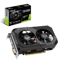 The ASUS TUF Gaming GeForce® GTX 1660 OC edition 6GB GDDR5 rocks high refresh rates for an FPS advantage without breaking a sweat - TUF-GTX1660-O6G-GAMING