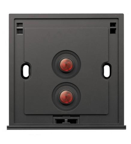 Schneider 2 Gang 2 Way 250V 16AX Switch, Amber LED - U202SPM/2 A00