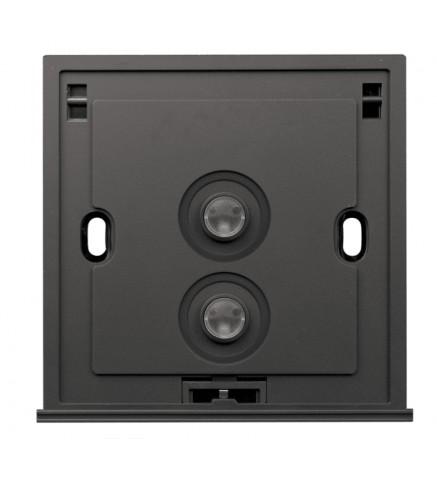 Schneider 2 Gang 2 Way 250V 16AX Switch, Blue LED - U202SPM/2 B00