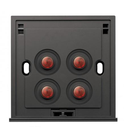 Schneider 4 Gang 1 Way 250V 16AX Switch, Amber LED - U204SPM/1 A00