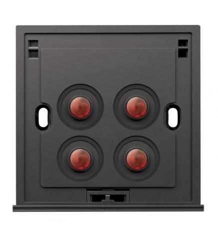Schneider 4 Gang 2 Way 250V 16AX Switch, Amber LED - U204SPM/2 A00