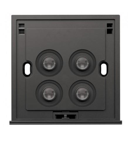 Schneider 4 Gang 2 Way 250V 16AX Switch, Blue LED - U204SPM/2 B00