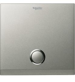Schneider 1 Gang 2000VA Zigbee Switch Cover Plate, Brush Silver- UC21SW XBS