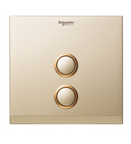 Schneider 2 Gang Push Switch Cover - Champagne Gold - UC22SW/P XCG