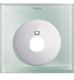 Schneider 1 Gang TV Socket Cover, Crystal Glass - UC31TV XGL