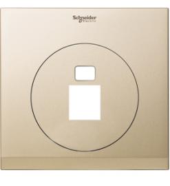Schneider 1 Gang Tel and Data Socket COVER PLATE, PEARL WHITE - UDC31RJ XCG