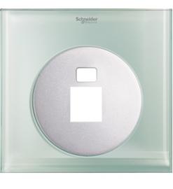 Schneider 1 Gang Tel and Data Socket COVER PLATE, Crystal Glass - UDC31RJ XGL