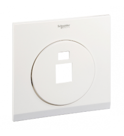 Schneider 1 Gang Tel and Data Socket COVER PLATE, PEARL WHITE - UDC31RJ XPW