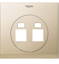 Schneider 2 Gang Tel and Data Socket COVER PLATE, Champagne Gold- UDC32TD XCG