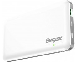 Energizer 10000mAh Power Bank With Dual Outputs And Type-C,Micro USB Inputs - Power Delivery, White - UE10025PQ_WE 18W PD